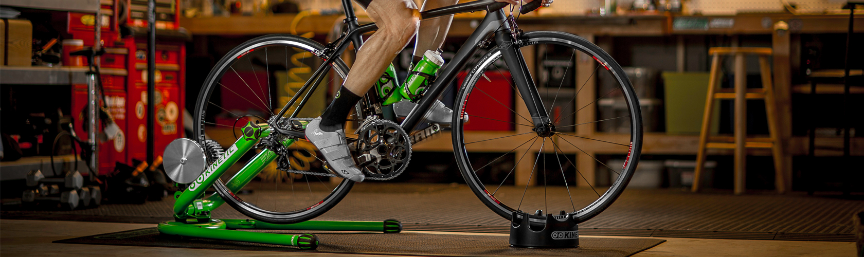 Rider training on a turbo trainer